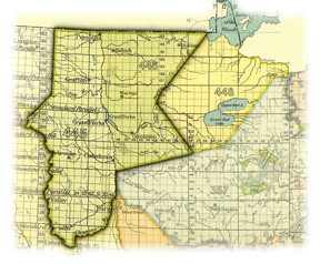"land taken under the ""Old Crossing Treaty,"" as amended and interpreted by the United States"