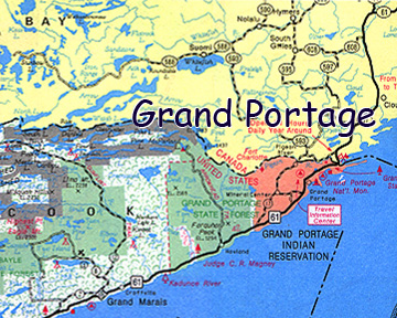 map of Grand Portage Indian Reservation