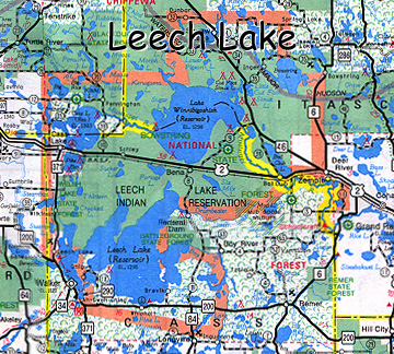 map of Leech Lake Indian Reservation