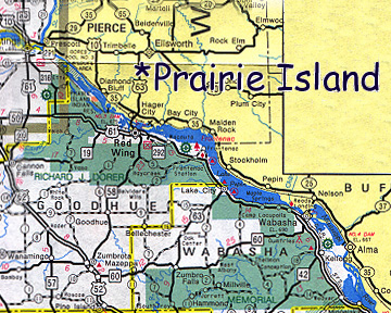 Map of Prairie Island Dakota Community