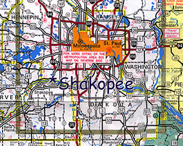 map of Shakopee Dakota Community