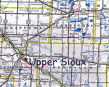 map of Upper Sioux community