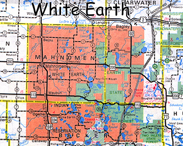 map of White Earth Indian Reservation